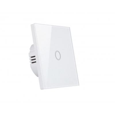 MILIO Dotykový skleněný vypínač MK0001 - bílý