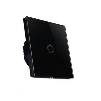 MILIO Dotykový skleněný vypínač MK0002 - černý