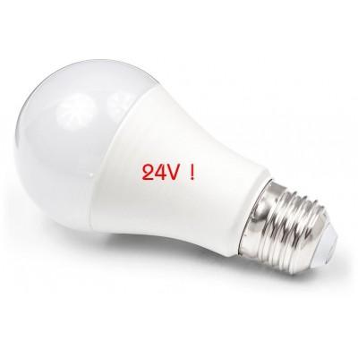 LED žárovka - E27 - 10W - 900Lm - neutrální bílá - 24V