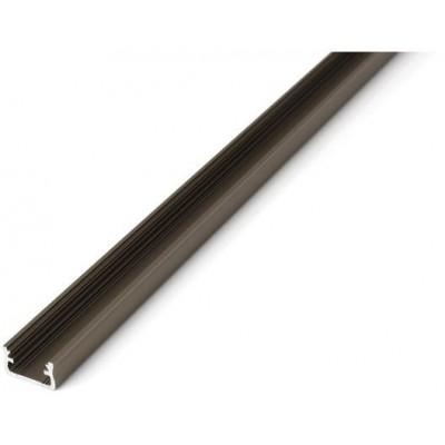 Povrchový profil A - eloxovaný - 1m - inox