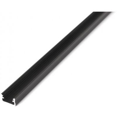 Povrchový profil A - eloxovaný - 2m - černý