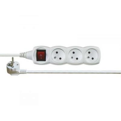 Prodlužovací kabel 5m s vypínačem 3 zásuvky