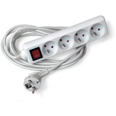 Prodlužovací kabel s vypínačem - 4 zásuvky - 1,5m