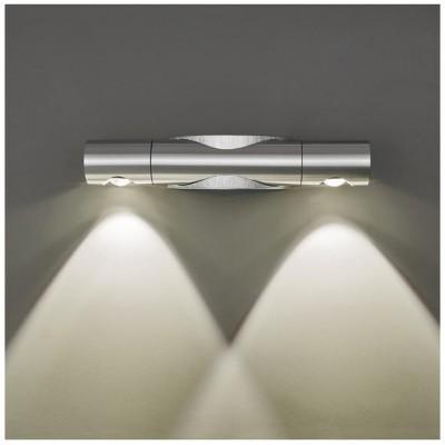 Svítidlo Kinkiet ARI LED - 230V - 2x1W - stříbrné