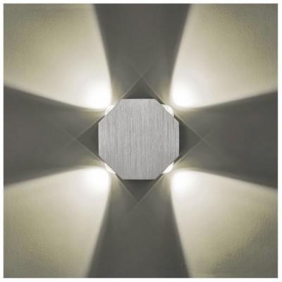 Svítidlo Kinkiet ORA LED - 230V - 4x1W - stříbrné