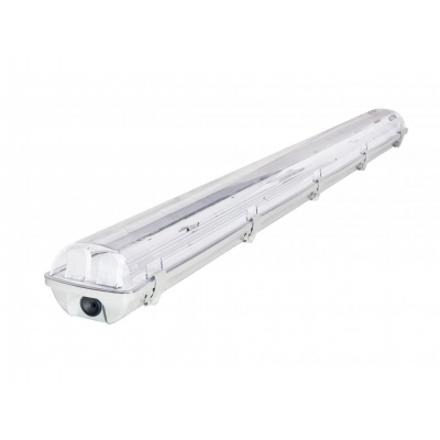 Svítidlo pro LED trubice T8 s odrazovou plochou - 2x120 cm - IP65