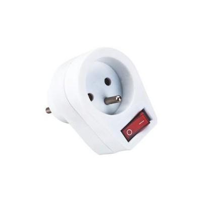 Adapter s vypínačem - 16A - 250V - 3680W