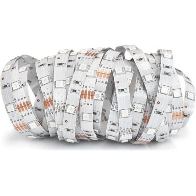 LED pásek - 12V - 5m - 36W - 150 diod - IP20 - RGB