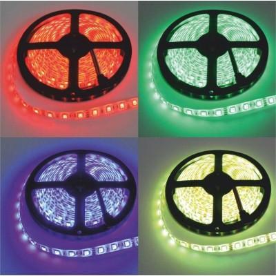 LED pásek - 12V - 5m - 72W - 300 diod - IP20 - RGB