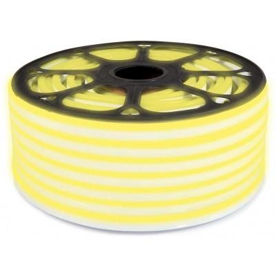 LED pásek NEON - 230V - 1m - 8W/m - IP65 - žlutý