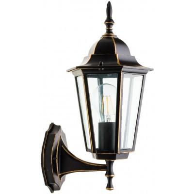 LED venkovní svítidlo B7150 - E27 - 36 x 20 x 17cm - černo-zlatá
