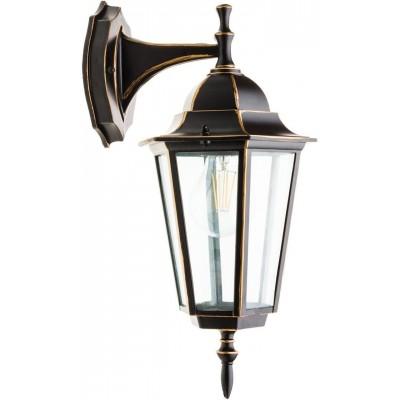LED venkovní svítidlo B7152 - E27 - 36 x 20 x 17cm - černo-zlatá