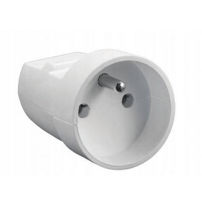 Kabelová zásuvka s uzemněním bílá G-10