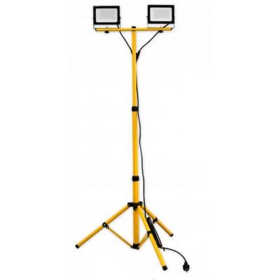 BERGE LED reflektor 2x50W se stativem a 3m kabelem