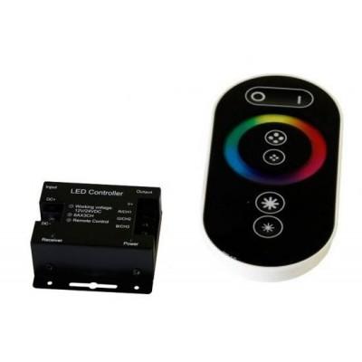 BERGE Dálkový dotykový ovladač černý pro RGB LED pásky - max 216W