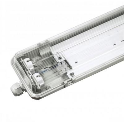 BERGE Hermetické svítidlo s odrážečem světla pro LED Trubice T8 2x120cm  IP65 ver3