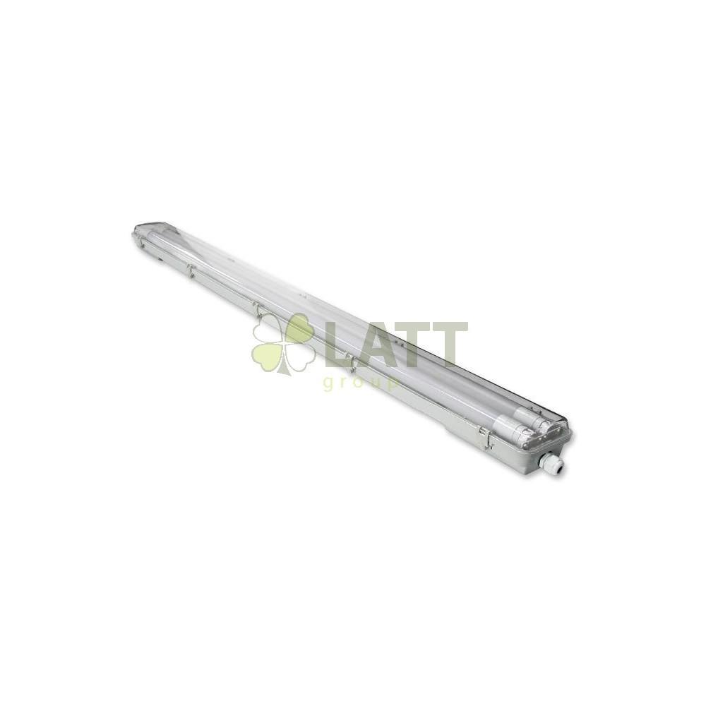 MASTER Svítidlo clear + 2x LED trubice - T8 - 120cm - 18W - studená bílá 6500K - SADA